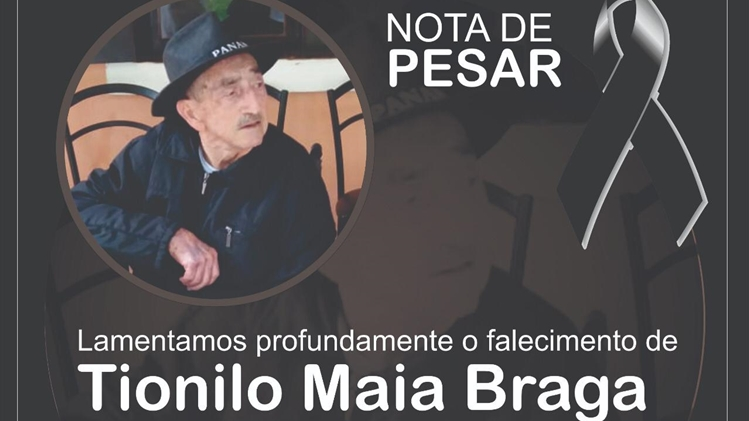 Morre Tionilo Maia Braga