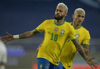 Copa América: Brasil goleia Peru por 4 a 0 e segue invicto em 2021