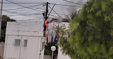Ponto Novo: incêndio de poste deixa Banco do Brasil sem funcionamento